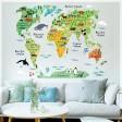 Samolepka na stenu - Detská mapa