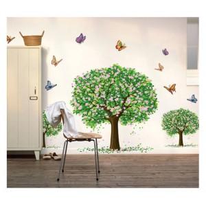 Samolepka na stenu - Vtákoidný strom