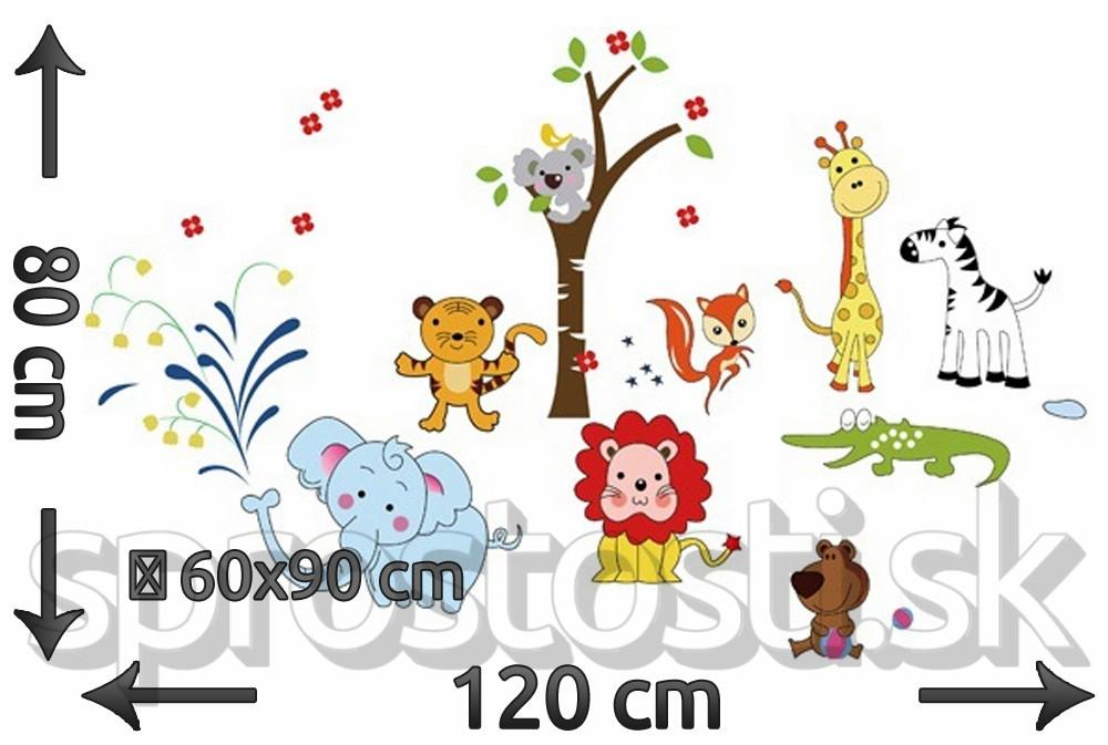 Samolepka na stenu - Koala a zvieratká