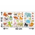 Samolepka na stenu - Mini Zoo