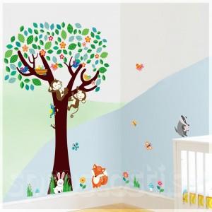 Samolepka na stenu - Oddychujúca opica
