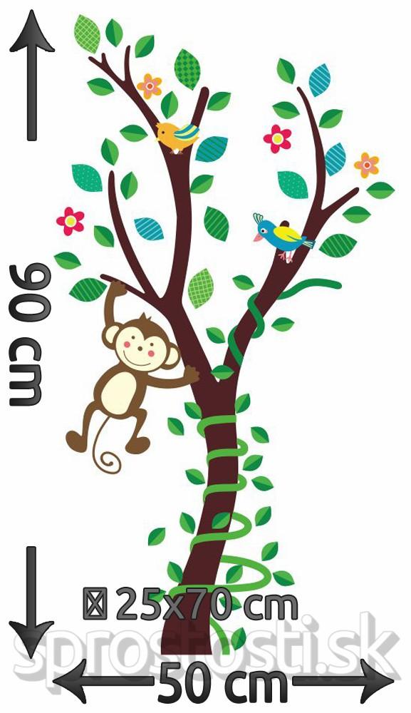 Samolepka na stenu - Šťastná opica