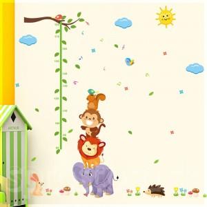 Samolepka na stenu - Metríkové zvieratká