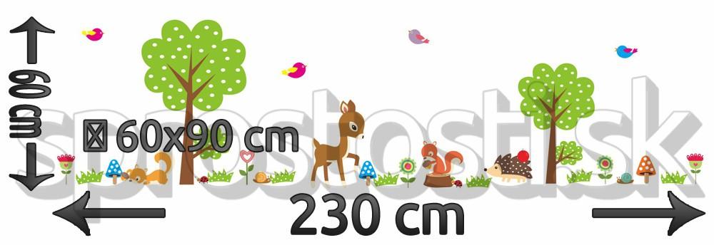 Samolepka na stenu - Srnka a veverička