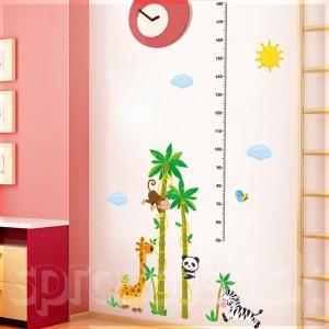 Samolepka na stenu - Metríková džungla