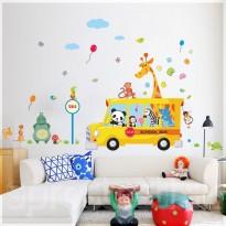 Samolepka na stenu - Školský autobus