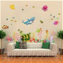 Samolepka na stenu - Podmorský svet