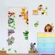 Samolepka na stenu - Šťastné zvieratká