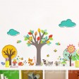 Samolepka na stenu - Čarbané zvieratká