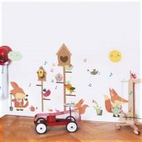 Samolepka na stenu - Vtáčí domček