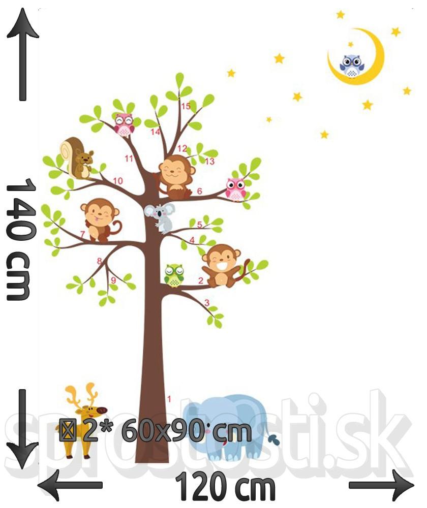 Samolepka na stenu - Tri opičky
