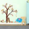 Samolepka na stenu - Medvedík a Sloník