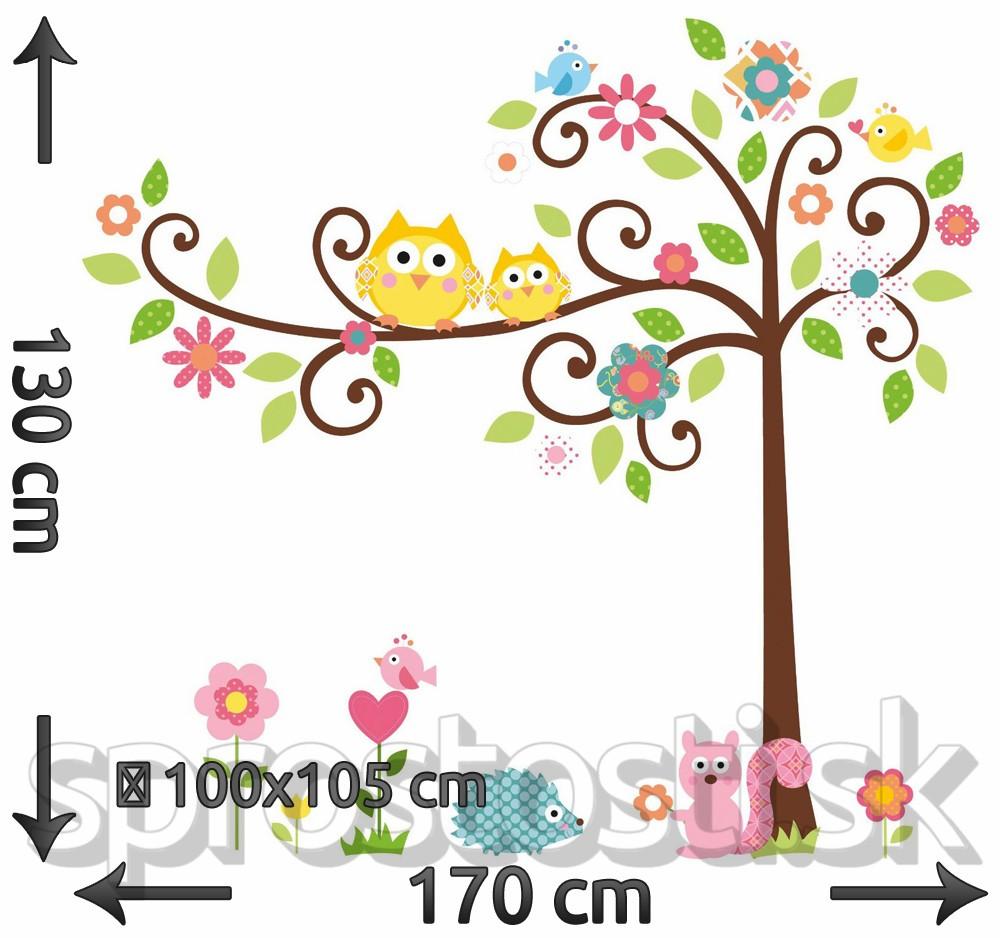 Samolepka na stenu - Rozprávkový strom