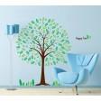 Samolepka na stenu - Šťastný zelený strom