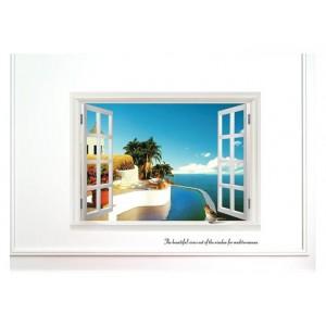 Samolepka na stenu - Dovolenkové okno