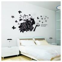 Samolepka na stenu - Rozfúkané kvety