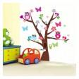 Samolepka na stenu - Sovičky na strome