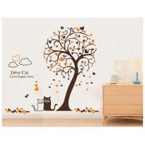 Samolepka na stenu - Mačky pod stromom
